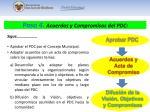 paso 4 acuerdos y compromisos del pdc