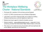 the workplace wellbeing charter national standards