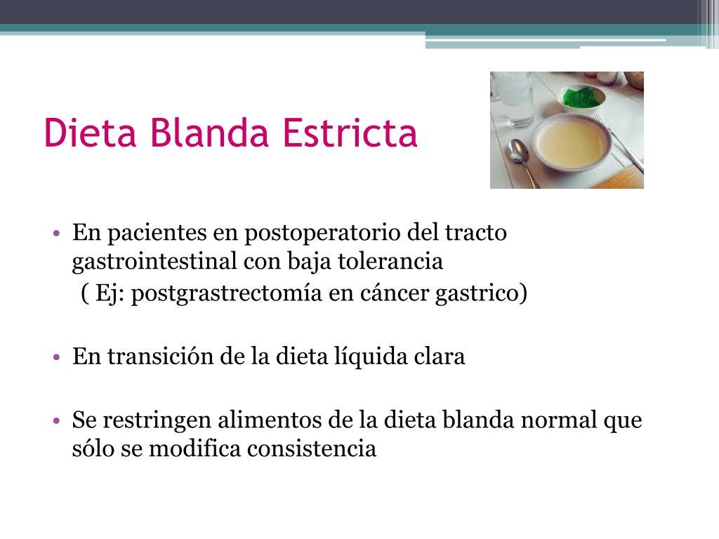 Dieta blanda mecanica menu
