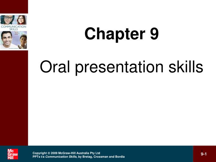 chapter 9 oral presentation skills n.