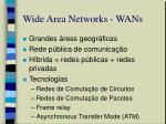 wide area networks wans