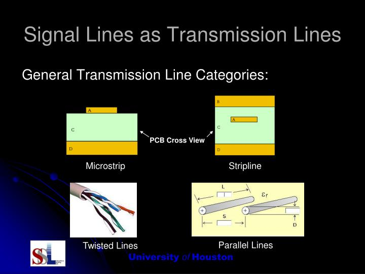 Signal Lines as Transmission Lines