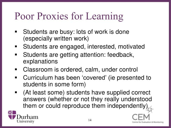 Poor Proxies for Learning