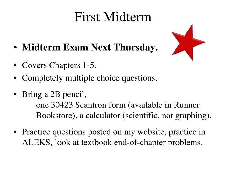 First Midterm