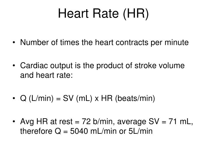 Heart Rate (HR)