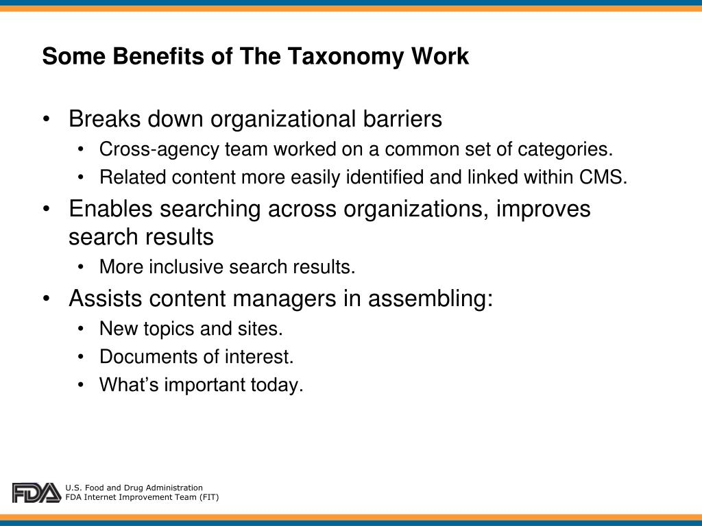 PPT - Planning Made All The Difference: FDA Web Taxonomy