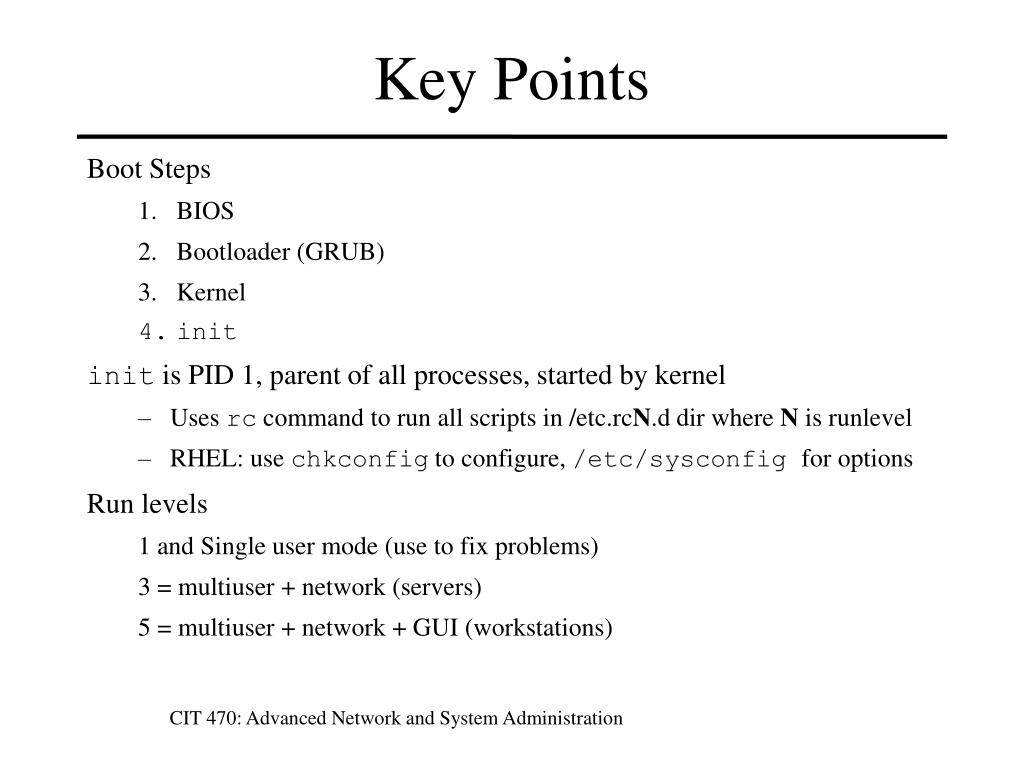 PPT - CIT 470: Advanced Network and System Administration PowerPoint