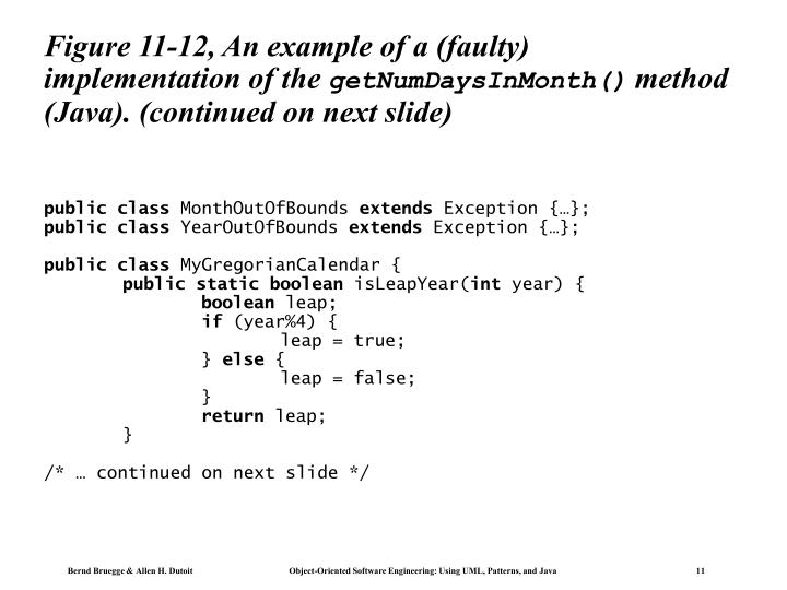 Figure 11-12, An example of a (faulty) implementation of the