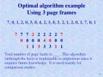 optimal algorithm example using 3 page frames