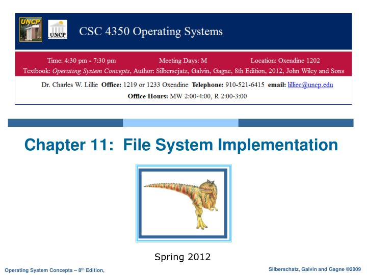 chapter 11 file system implementation n.