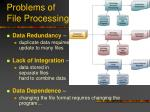 problems of file processing