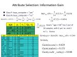 attribute selection information gain