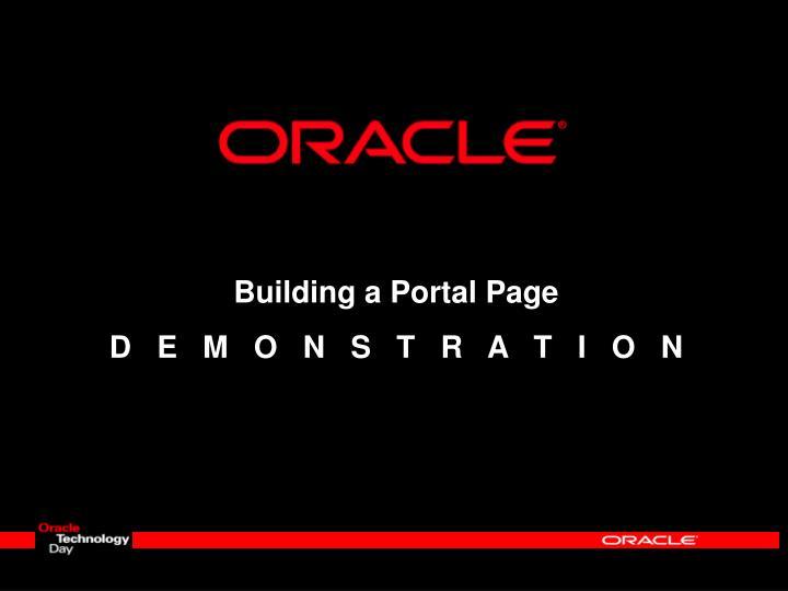 Building a Portal Page