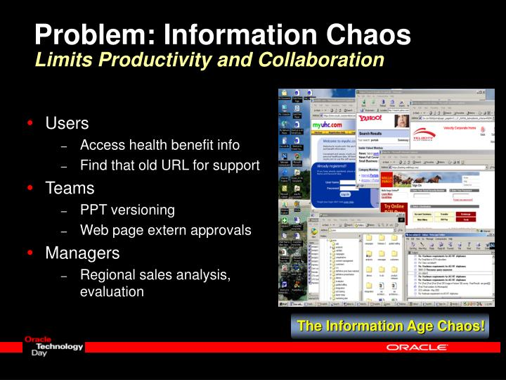 Problem: Information Chaos