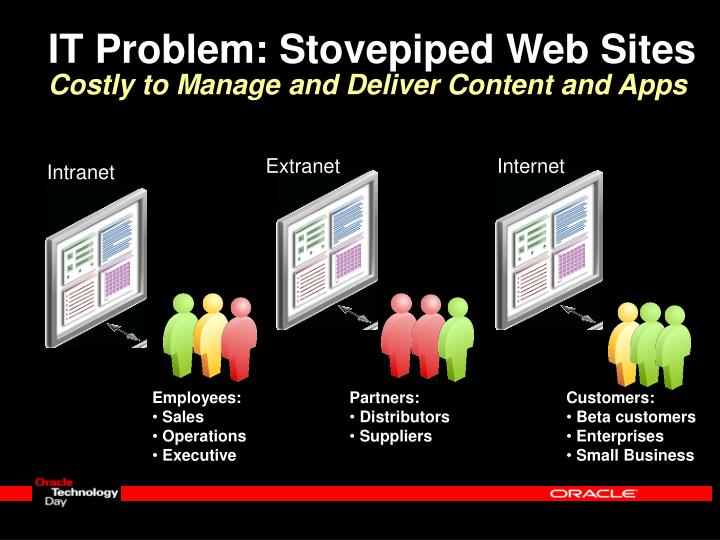 IT Problem: Stovepiped Web Sites