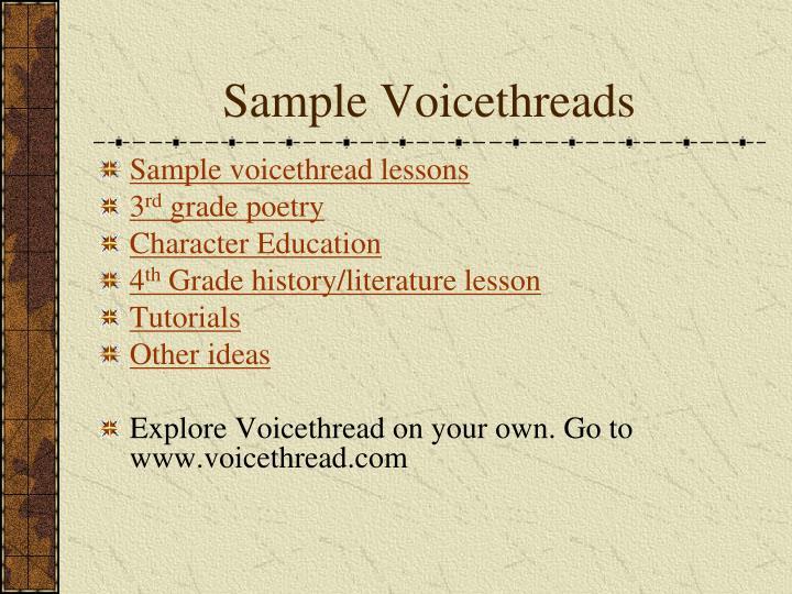 Sample Voicethreads