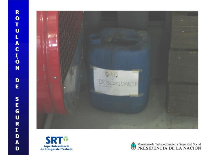 ROTULACIÓN DE SEGURIDAD