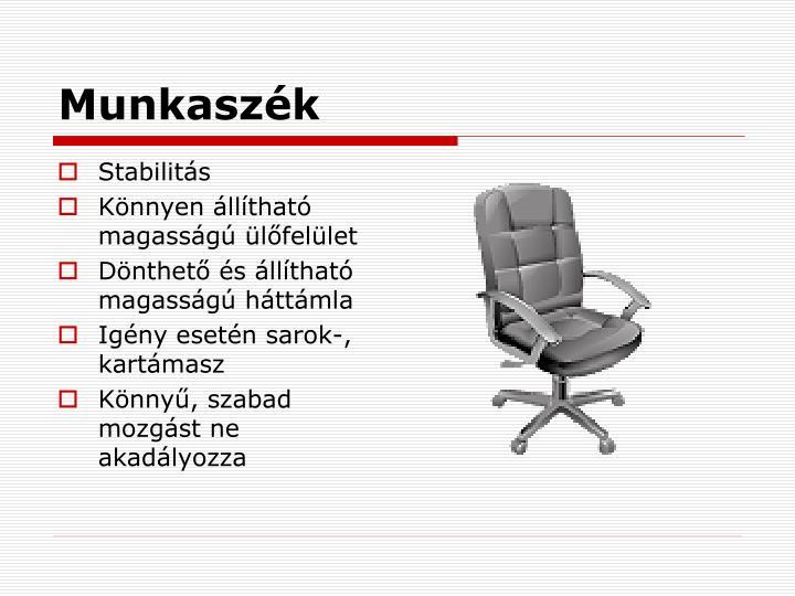 Munkaszék