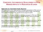composite accommodate development in pfas minimize impacts to resources lands1