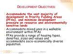 d evelopment objectives