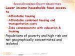 socio economic equity objectives1