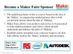 become a maker faire sponsor