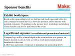 sponsor benefits