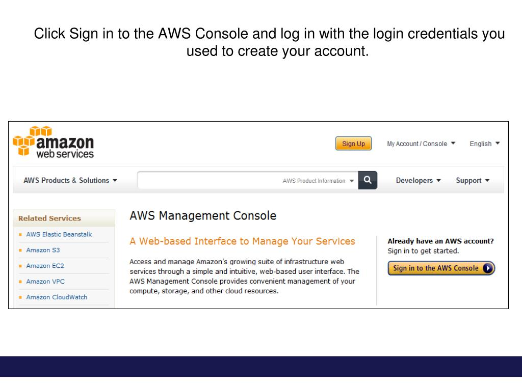 PPT - Creating an Amazon Simple Email Service Account PowerPoint