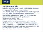 target materials