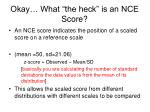 okay what the heck is an nce score
