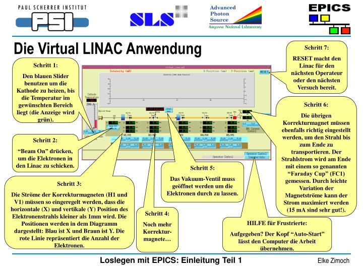 Die Virtual LINAC Anwendung