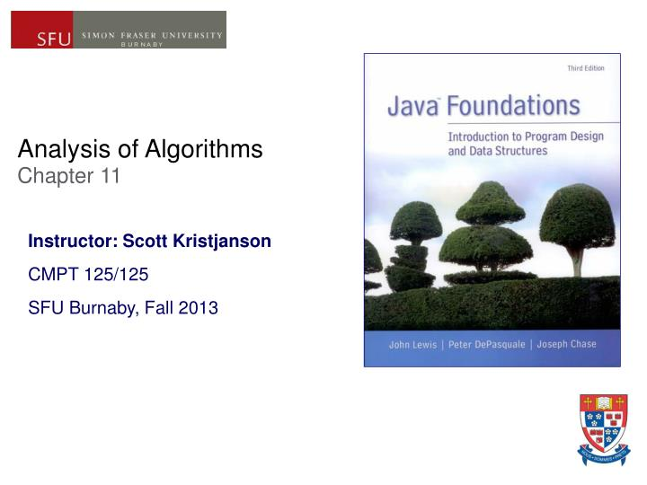 analysis of algorithms chapter 11 n.