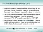 behavioral intervention plans bips