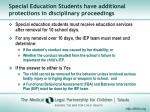 special education students have additional protections in disciplinary proceedings