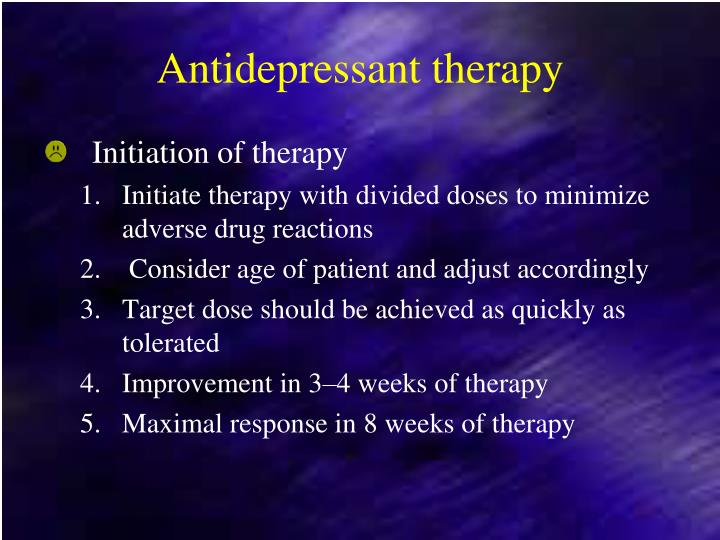 Antidepressant therapy