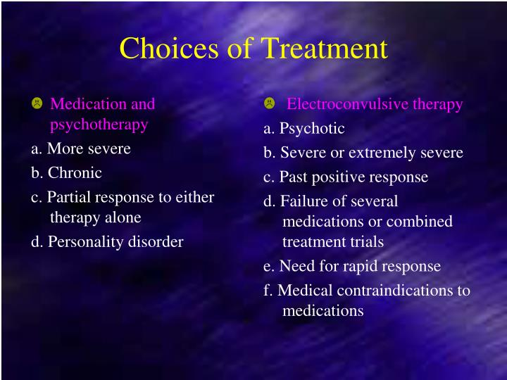 Medication and psychotherapy