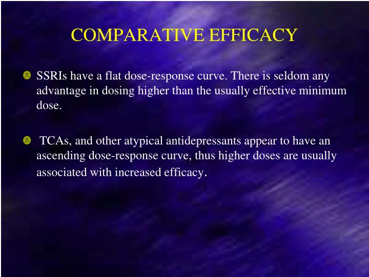 COMPARATIVE EFFICACY