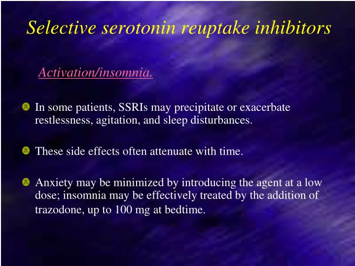 Selective serotonin reuptake inhibitors