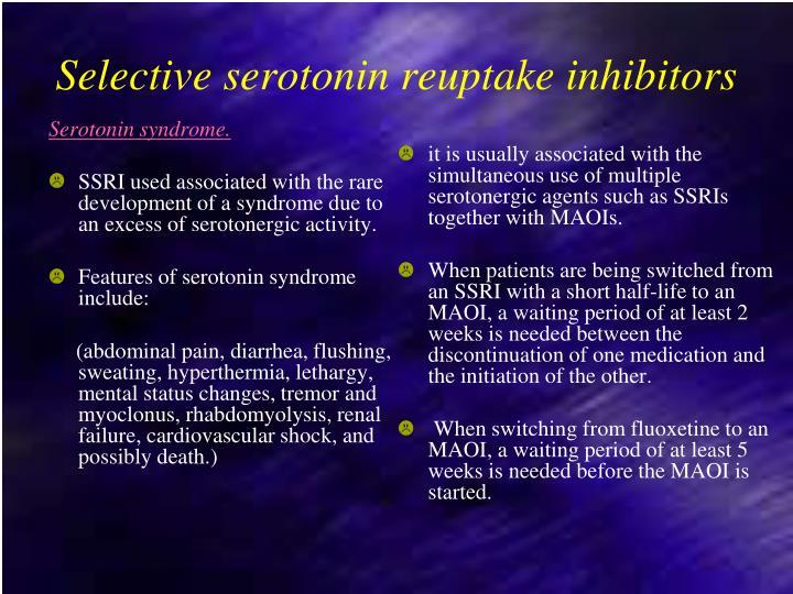 Serotonin syndrome.