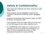 safety confidentiality