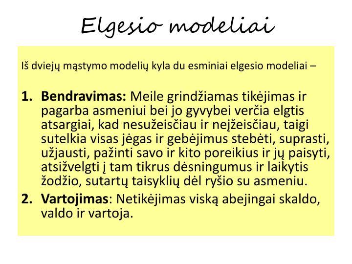 Elgesio modeliai