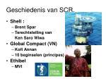 geschiedenis van scr