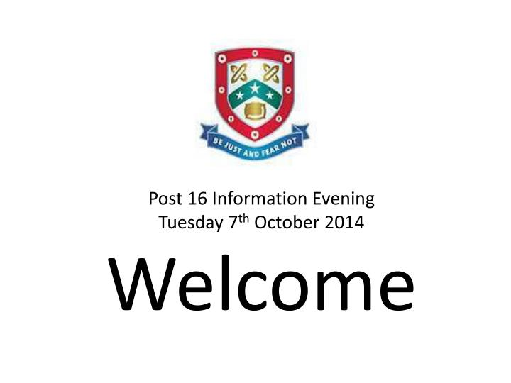 Post 16 Information Evening