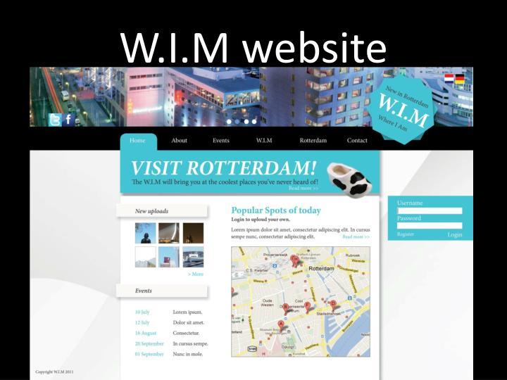W.I.M website