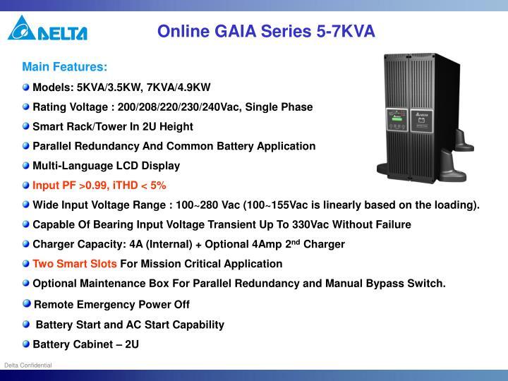 Online GAIA Series 5-7KVA