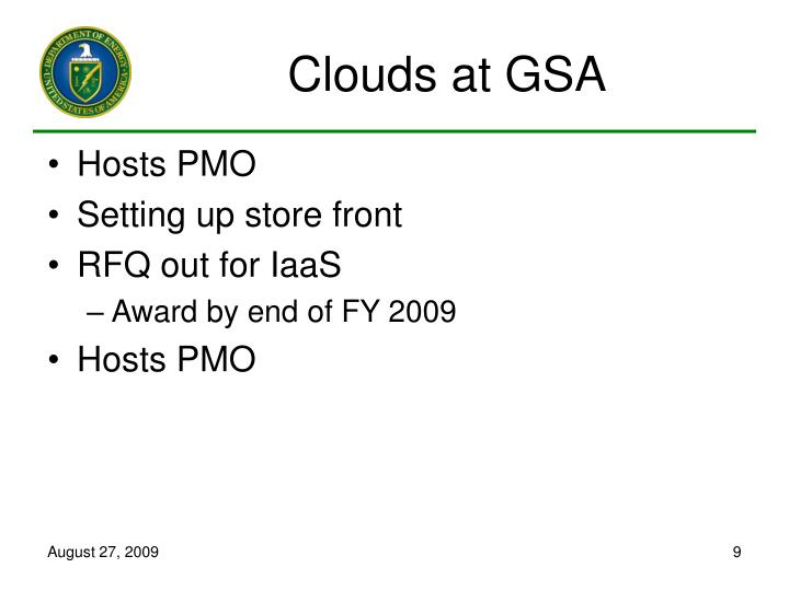 Clouds at GSA