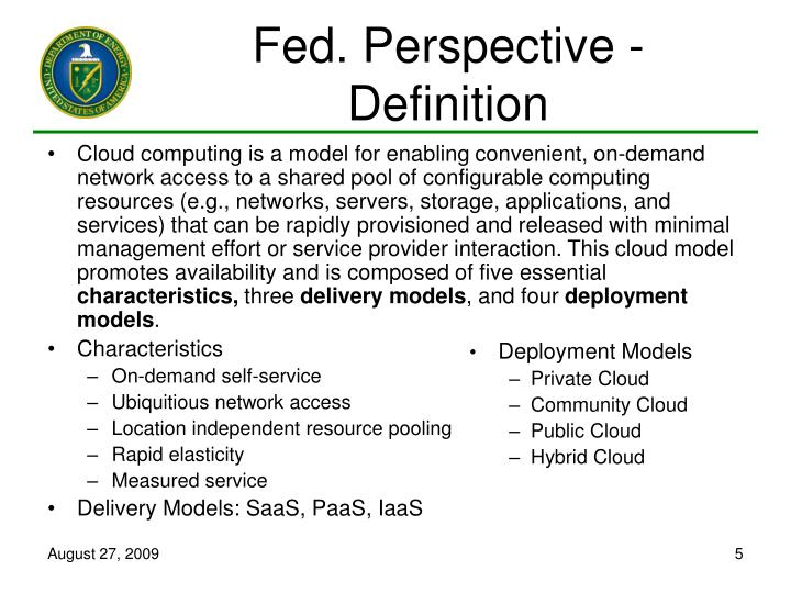 Fed. Perspective - Definition