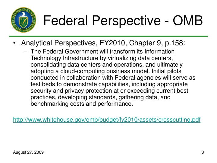 Federal perspective omb