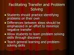 facilitating transfer and problem solving1