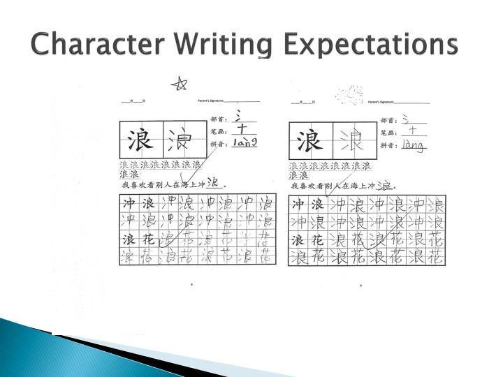 Character Writing Expectations